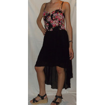 Vestido Fiesta Gasa Combinado Corte Irregular Von Blume®