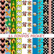 Kit Imprimible Super Mickey Y Amig. 91 Clipart 11 Fondos.