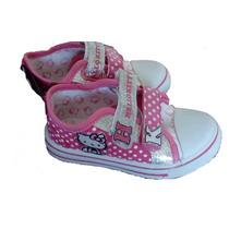 Zapatillas Nena Bebe Importadas Hello Kitty 26 Velcro Brillo
