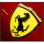 Escudo Ferrari En Bronce Cromado