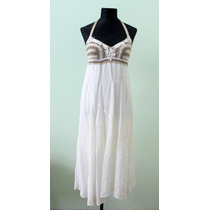 Elegante Vestido Crema Hippie Chic Casamiento Bautismo - Env