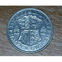Moneda De Plata De Gran Bretaña. Georges V Half Crown 1933