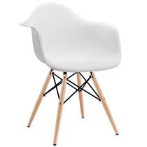 Silla Sillon Moderno De Diseño Eames Base De Madera