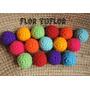 Pack X 15 Bolitas Medianas Pelotitas Tejidas Al Crochet