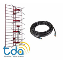 Antena Tv Publica Digital Tda Exterior + 15 Mts Cable Regalo