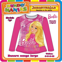 Remera Manga Larga Barbie - Princesas Disney - Mundo Manias