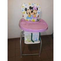 Silla De Comer Para Bebé Estampa Mickey Minnie Hamaca