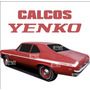 Calcos Chevy Yenco - Franjas Laterales - Serie 2 - Ploteoya!