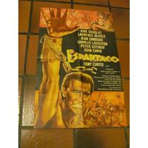 Afiches De Cine Antiguos Con Kirk Douglas. Espartaco