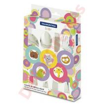Kit Set Cubiertos Tramontina Bebe Baby X4 Infantil Acero