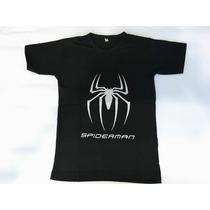 Oferta Remeras Spiderman Hombre Araña Algodón Serigrafía