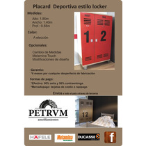 Placard Deportivo Estilo Locker
