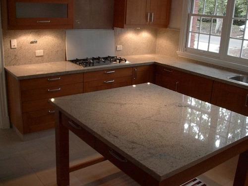 Mesada granito kashmir white x metro lineal marmoleria Precio metro lineal encimera granito