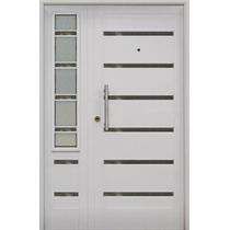 Puerta Y Media Residencial Vidriada Blanca Premium 120x200