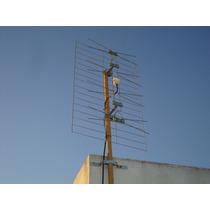 Antena Tv Digital Abierta Tda Tipo Pantalla-14 Dbi-4 Dipolos