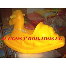 Caballo Mecedor Reforzado - Plazas Blandas - Rotomoldeo