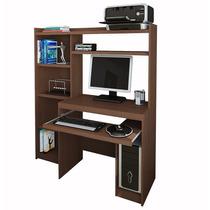 Escritorio Mesa Para Pc + Alzada + Biblioteca Reproex 11813