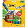 Lapices De Color Pinturitas Bic Evolution X 24 L +2 Grafito