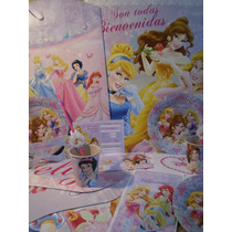 Princesas Cumple 25 Chicos Tematico Con Regalos Y Envio