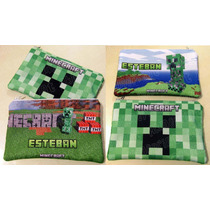 Cartucheras Estampadas Personalizadas, Minecraft-violeta-etc