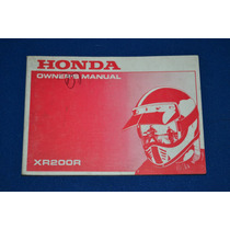 Honda Xr 200r Manual De Usuario Original
