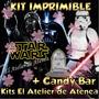 Kit Imprimible Star Wars Darth Vader Candy Bar Golosinas 2x1