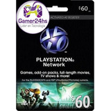 Combo Psn U$60 Digital Usa | Entrega Inmediata - G24