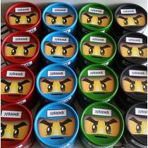 Lego Ninja Go - Souvenir Alcancia Golosinera 8,5 X 8,5 Cm.