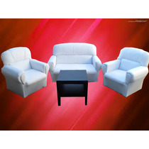 Super Oferta Sillon 2cps+2 Individuales+mesa Revistera