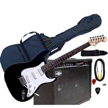 Guitarra Eléctrica Stratocaster Más Amplificador Hoxon 40w