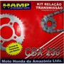 Kit Transmision Honda Cbx 250 Twister Original Fas Motos.