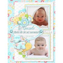 Tarjetas De Nacimiento Y Primer Año Con Foto 10x14,4 Cm