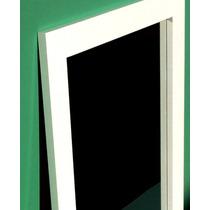 Espejo Con Marco 50x70 Blanco Laqueado Zona Norte