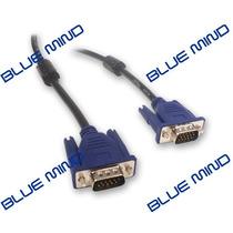 Cable Monitor Vga Macho-macho 3 Mts Doble Filtro- Blue Mind-