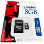 Memoria Micro Sd Hc 8gb Kingston Originales Blister Garantía