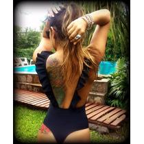 Body Malla Volados /enteriza/less/lycra Premium Liquidacion