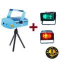 Combo Mini Laser Multipunto + 2 Flash Portátiles 1 Año Gtia