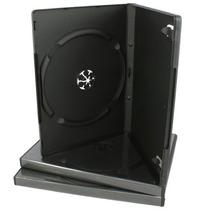 50 Estuches Dvd 14mm Negros Resistentes Y De Calidad