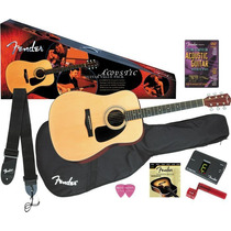Pack Acustico Dg8 De Fender Correa Puas Afinador Combo