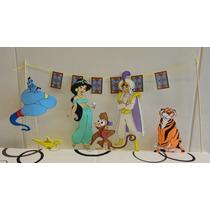 Aladin Y Jasmin Centros De Torta En Goma Eva