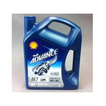 Aceite Shell Advance 4t Ax7 15w-50sl X 1 Lt- Moto Fazio