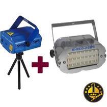 Combo Maquina De Laser + Flash - Audioritmico Efecto Lluvia