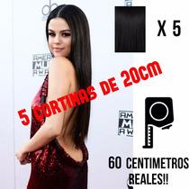 5 Cortinas Extensiones 100% Cabello Humano 20cm X 60cm Largo