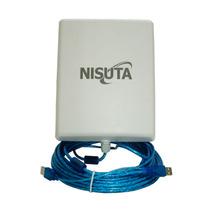 Placa Wifi C/antena Exterior Cpe3 12dbi Cable 5m 33dbm Usb
