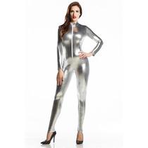 Catsuit Lycra Metalizada Promotoras Super Sexys Calzas