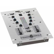 Mixer Skp Sm95 2 Canales + Eq Graves Y Agudos Ent Mic