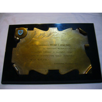 Placa De Bronce ( Recuerdo Militar )