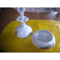 Antiguo Potich Y Despojador De Porcelana Tsuji