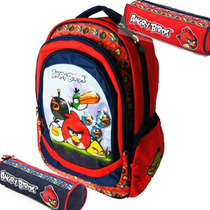 Mochila Angry Birds Grande + Cartuchera De Regalo! Original