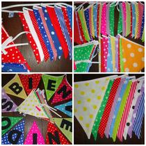 Banderines De Tela! Decoracion Y Cumples! Zona Oeste
